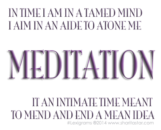 MEDITATIONlexigrams